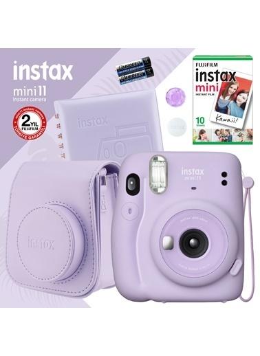 Fujifilm Instax mini 11 Lila Fotoğraf Makinesi ve Kare Albümlü Hediye Seti 22 Lila
